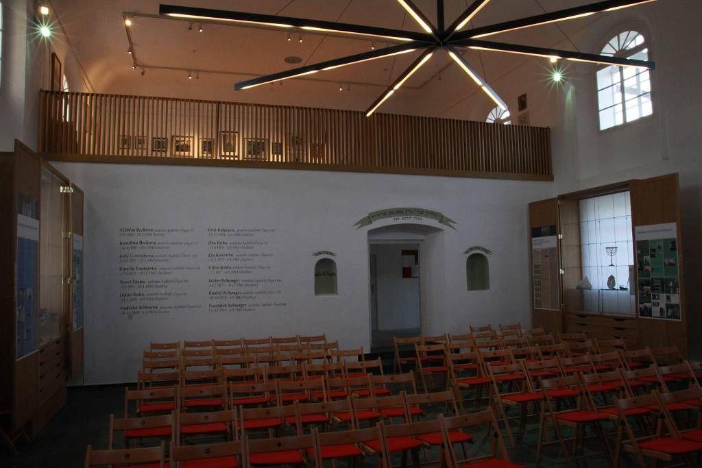 Fotografie synagogy po opravě