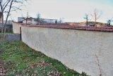 Oprava zdi u mateřské školy